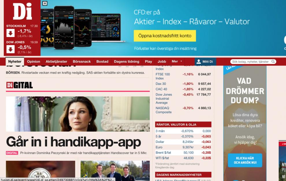 Handiscover in DI.digital.se
