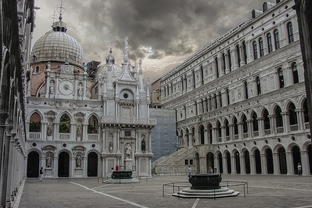 Doge's Palace, also known as 'Palazzo Ducale' in Italian, is renowned for its Gothic, Byzantine, and Renaissance architecture, and is truly a magnificent site to see.