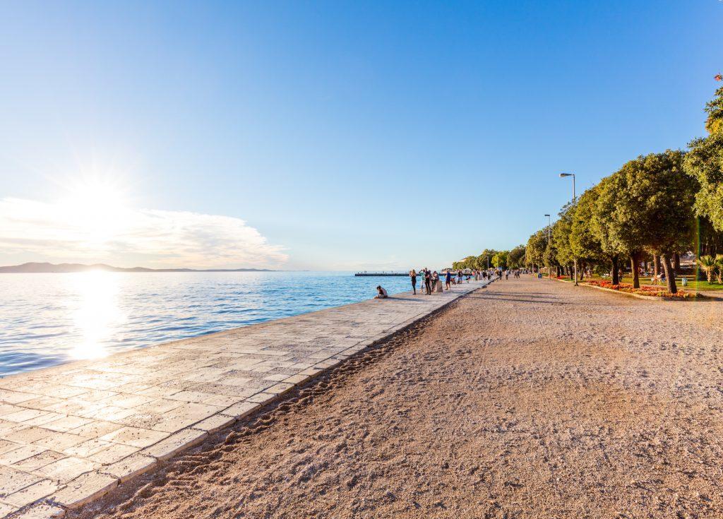 Uferpromenade in Zadar, Kroatien