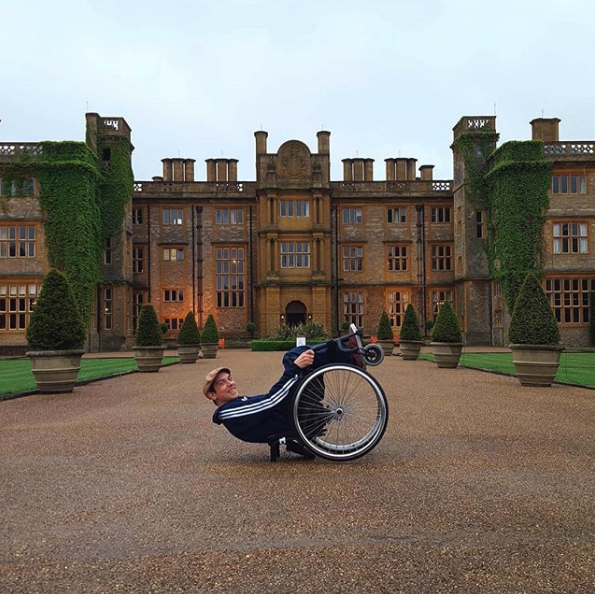 Tobias Wheelchair Planking In The UK