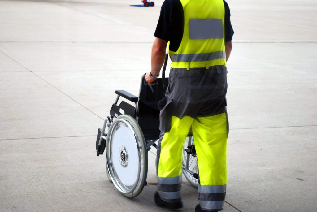 Wheelchair In An Airport