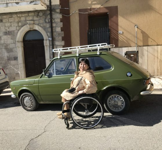 Wheelchair User Travelling In Molise, Italy