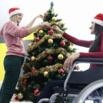Wheelchair User Celebrating Christmas