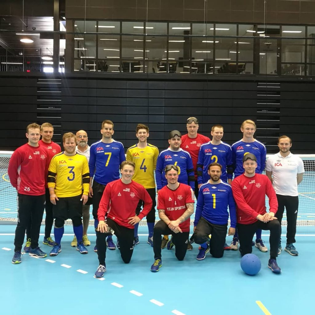 Fatmir and his goalball teammates