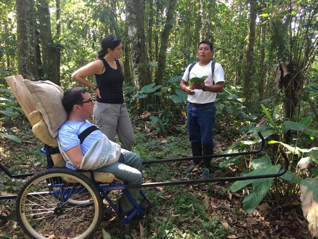 Cory Lee in the Amazon rainforest in Ecuador