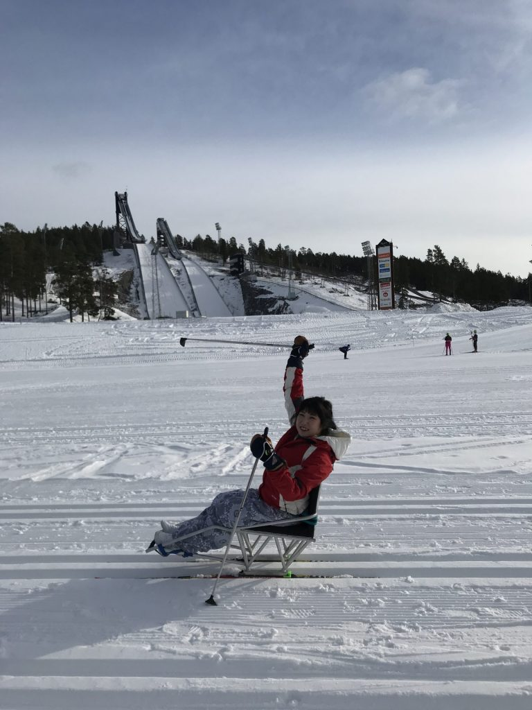 Our Customer Service Manager; Yesol Sit Skiing