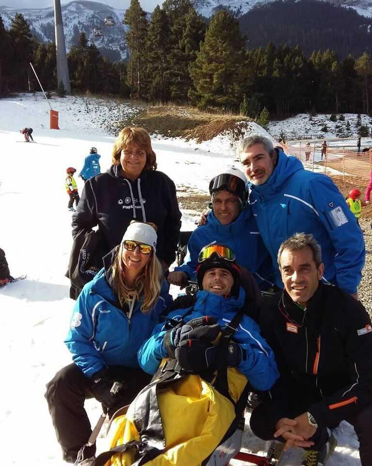 Martyn Adaptive Skiing In Barcelona