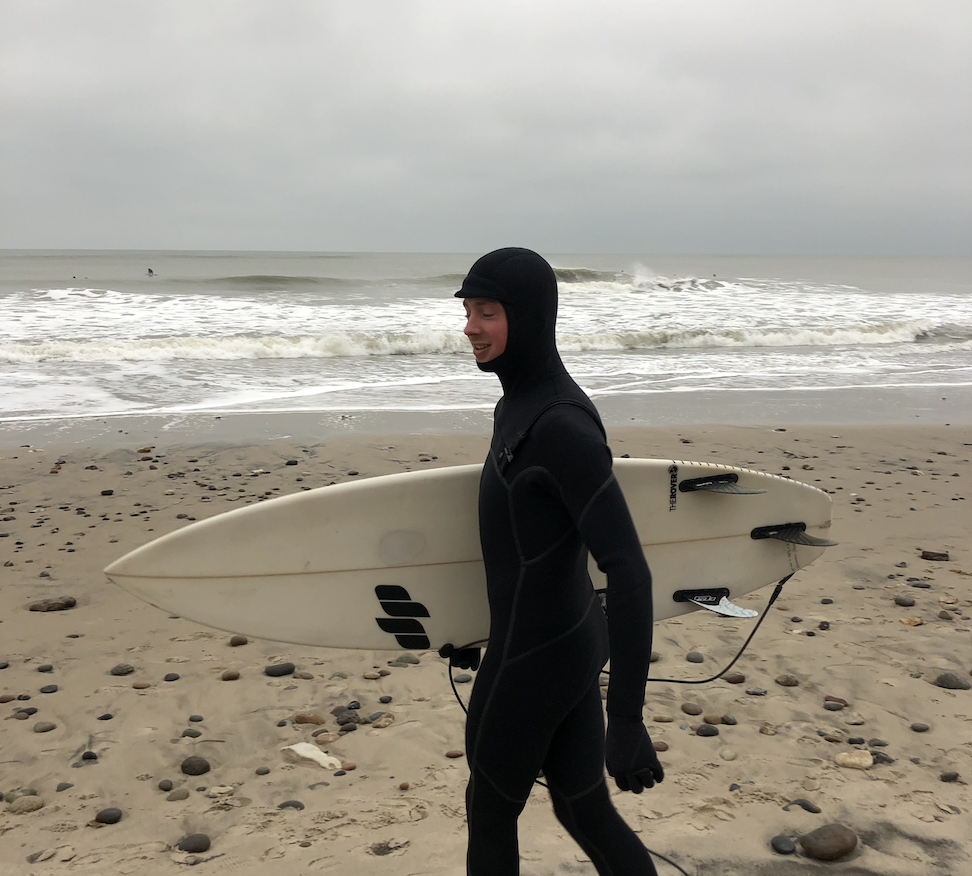 Alex Surfing In Denmark