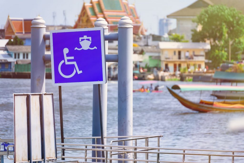 Wheelchair Sign At Cruise Entrance