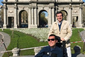 Cory spoke to Arturo about wheelchair accessibility in Madrid