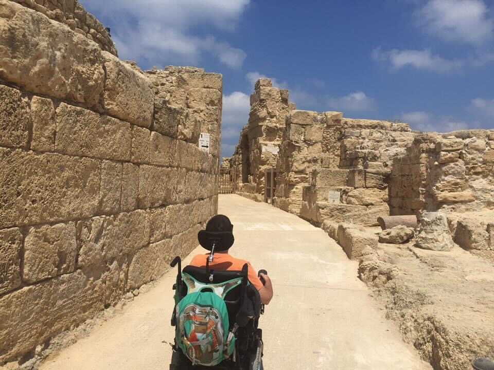 Cory Showcasing Wheelchair Accessibility In Israel