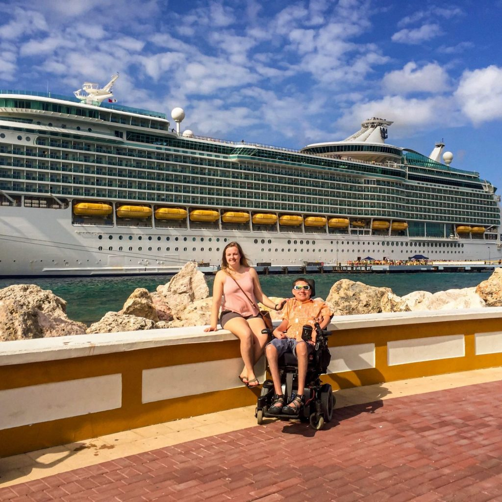Interabled Couple Kevin & Dee Before Boarding A Cruise