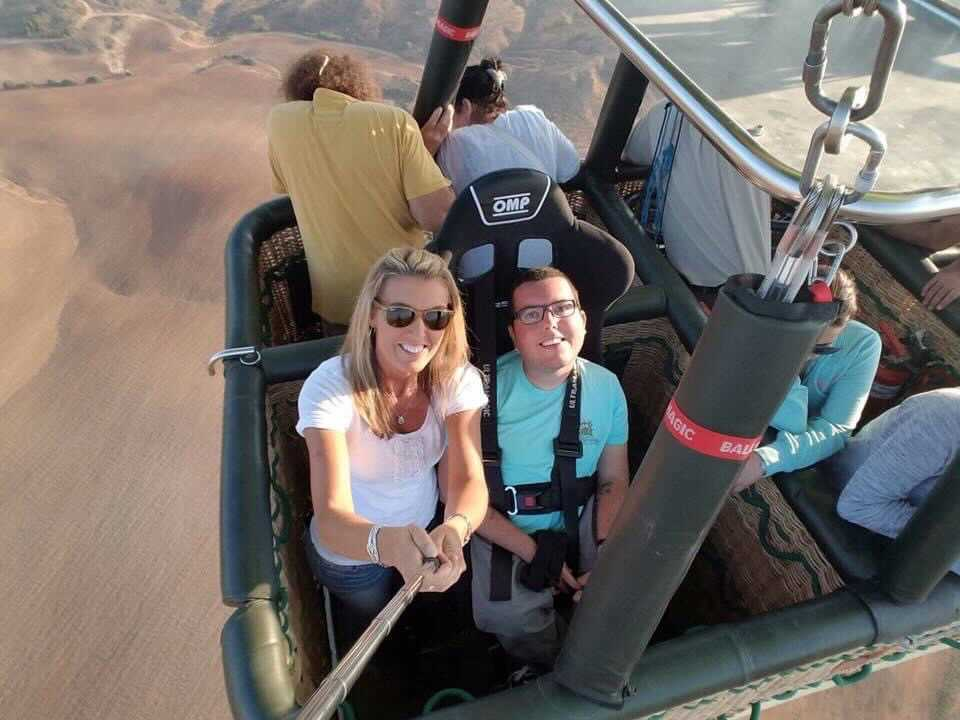 Cory And his Mum On A Hot Air Balloon Ride