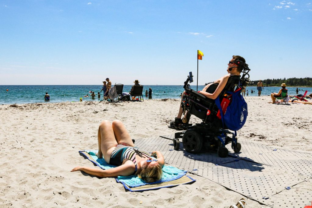Interabled Couple Kevin & Dee At The Beach