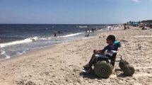 Cory In A Beach Wheelchair